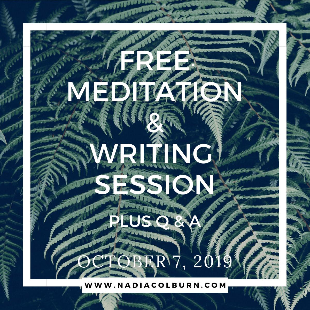 meditation and writing