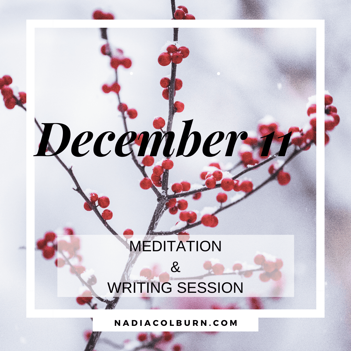 December 11th meditation and writing session 1