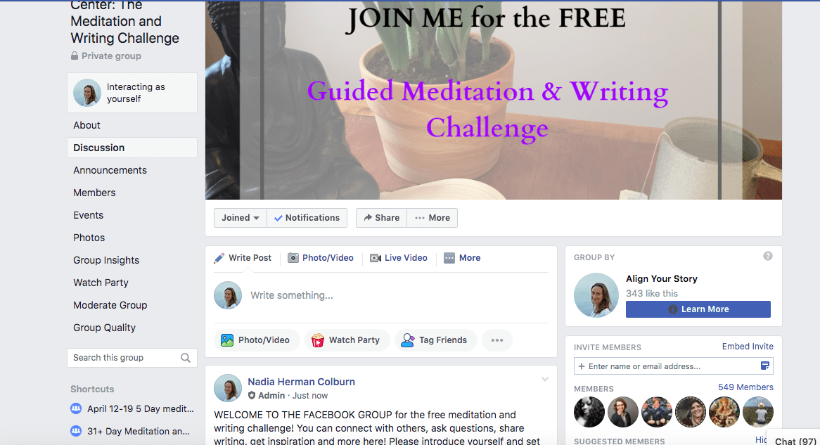 2021 Meditation and Writing Challenge Day 1 1