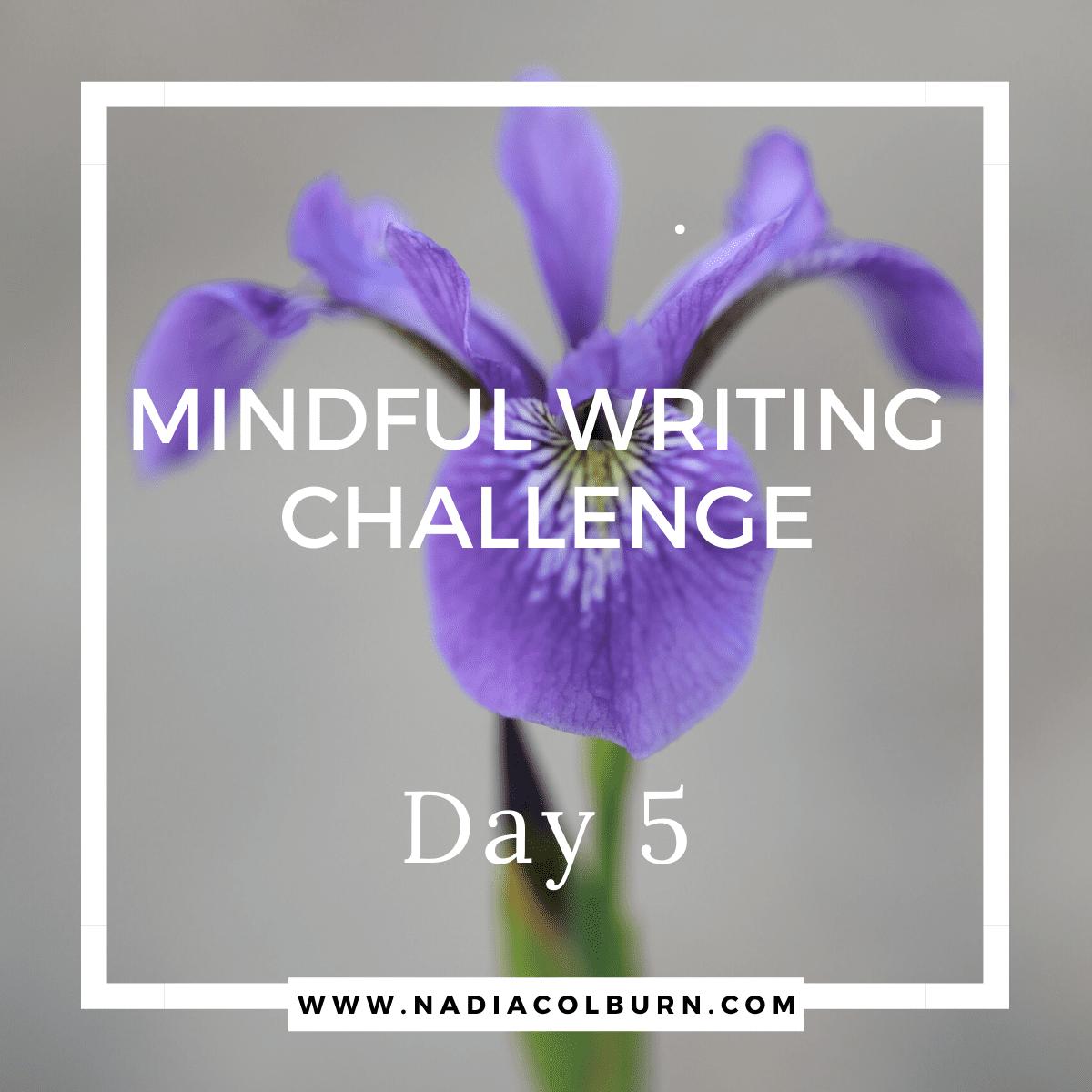 Mindful Writing Challenge Day 5 9