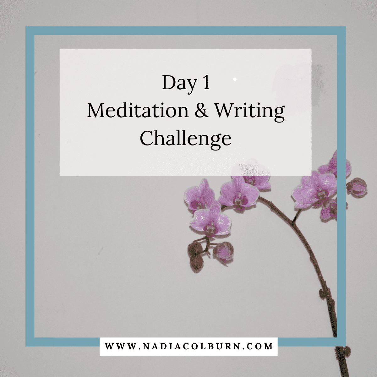 2021 Meditation and Writing Challenge Day 1 5