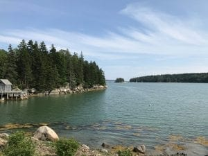 why writing is important: image of water in Maine